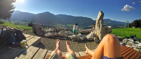 Wassertretbecken Riezlern Kleinwalsertal am Schwandlift #riezlern #austria #vorarlberg