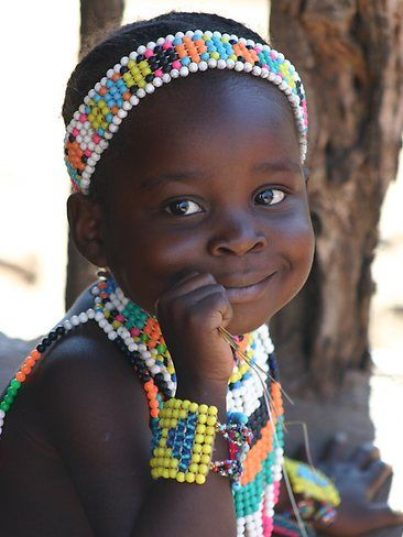 Botswana girl - Afrique australe                                                                                                                                                      More: