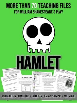 Hamlet Handouts, Worksheets & Projects: 70 Teaching Files ...