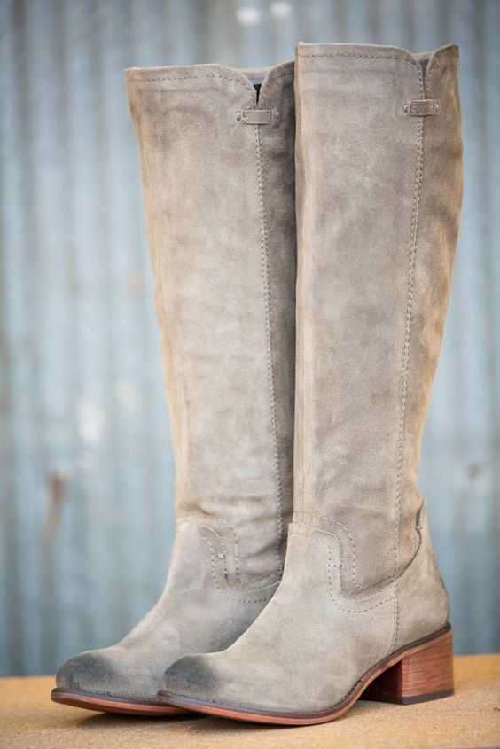 Pink Coconut Boutique | No Matter What Boot - Taupe Cow Suede