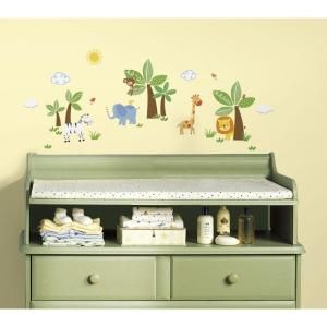RoomMates 5 in x 11.5 in. Jungle Friends Peel and Stick Wall Decal RMK2635SCS at The Home Depot - Mobile