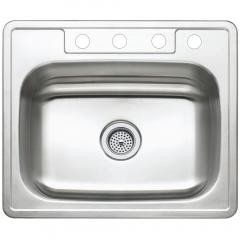 Self Rimming Single Bowl Sink - Stainless Steel Regular price$ 68.22 Add to Cart Kingston Brass Gourmetier Studio GKTS25227 Self Rimming Single Bowl Sink, Satin Nickel - Stainless Steel  All Kingston Brass stainless steel sinks offer sophisticated design with superior quality, fully protected by heavy duty sound deadening pad to prevent condensation sound. Dozen unique sinks for you to choose from when defining the perfect look for your kitchen 304 Grade Stainless Steel. resist from chips…