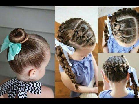 Peinados para niñas | ideas de trenzas y recogidos bonitos y fáciles - YouTube