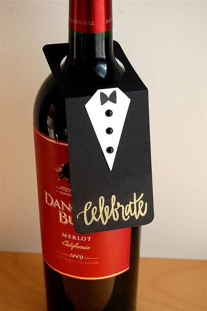 A Black Tie Wine Bottle Tag
