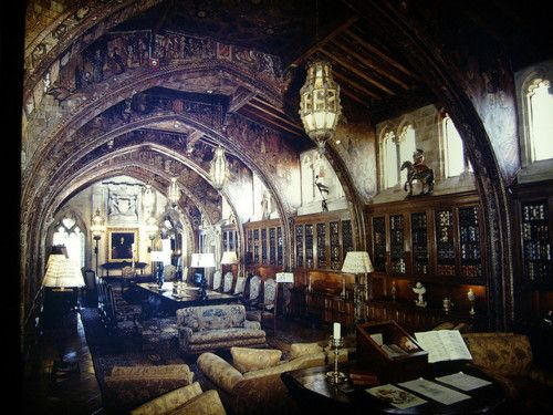 perfect. Hearst Castle library