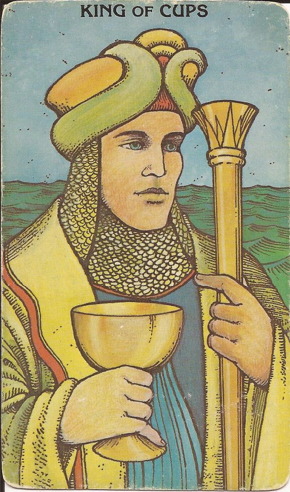 King of Cups Tarot Card: man in his emotions - (loving, in love).