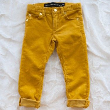 mini rodini slim cord - yellow
