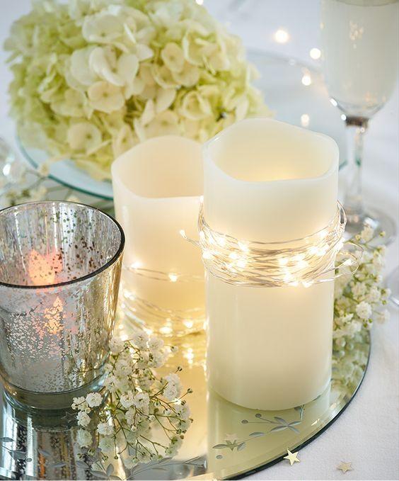 15 Ideas To Create Stunning Fairy Light Table Decorations Lights Wedding Decor Fairy Lights Wedding Fairy Lights Decor