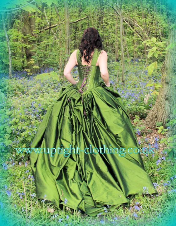 Skirts silk and gowns on pinterest for Woodland fairy wedding dress