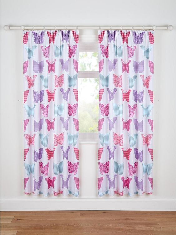 Vintage Butterfly Curtains (Pair), http://www.littlewoods.com ...