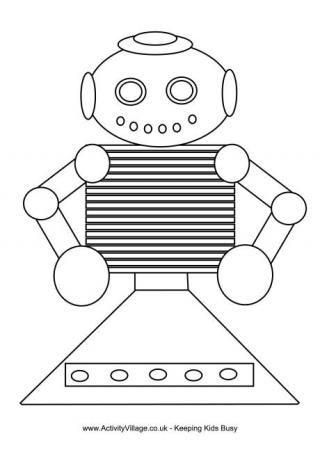 Robot Coloring Page   KIDS SCHOOL CRAFTS   Pinterest   Färben ...