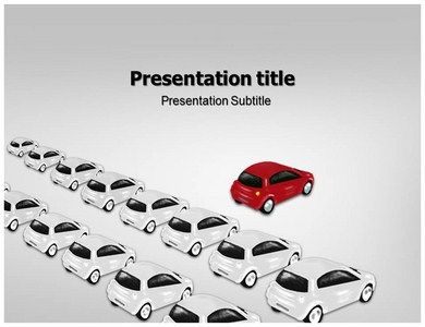 download awesome red car powerpoint templates with cars in the ppt, Modern powerpoint