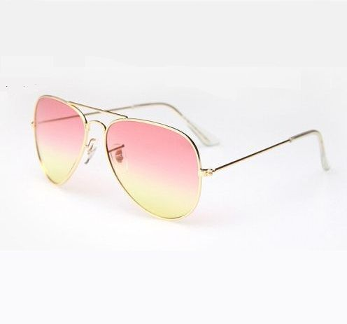 ray ban yellow aviator sunglasses  pink yellow lenses aviator girl fashion sunglasses · ray ban