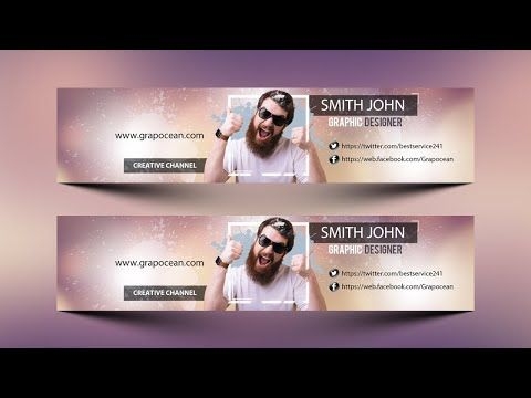 How To Make A Youtube Channel Banner Art Photoshop Cc Tutorial Youtube Youtube Channel Art Photoshop Tutorial