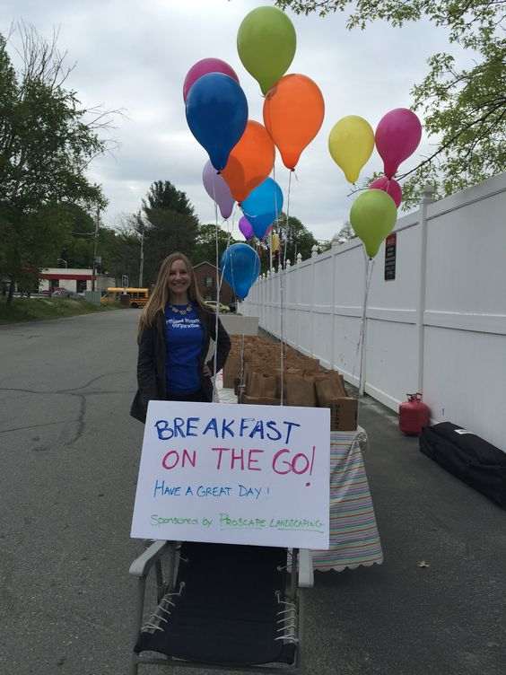 """We had a very successful """"Breakfast On The Go"""" this morning for our residents!   Thank you Proscape Landscaping for sponsoring the event. #WeLoveOurResidents  508-342-5927"""