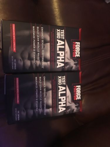 Force Factor Test X180 ALPHA! 2 boxes brand new in sealed box.  https://t.co/mpzye5PQ3d https://t.co/M9uN8kJdse