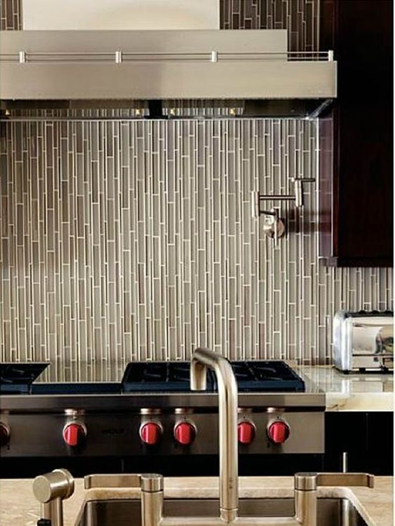 Love The Vertical Tile Backsplash Kitchen Remodel