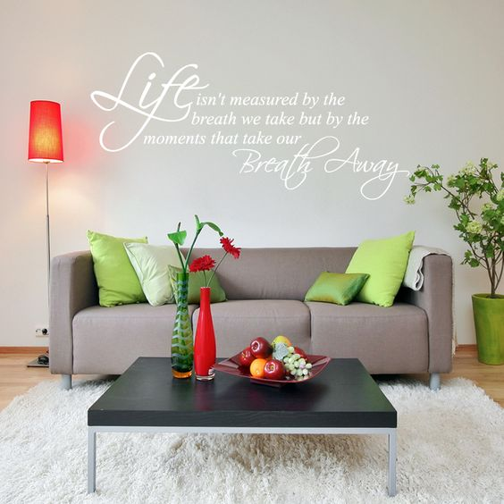 Life Wall Quote Sticker