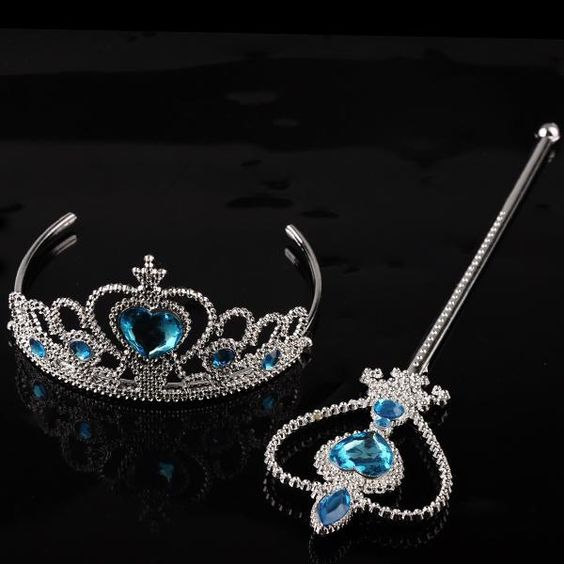 Elsa Snow Queen Crown Elsa Anna Princess Elsa Headgear Accessories =Magic Wand+Crown Cartoon Girls Crown 1704012 Online with $1.19on Szloop's Store | DHgate.com