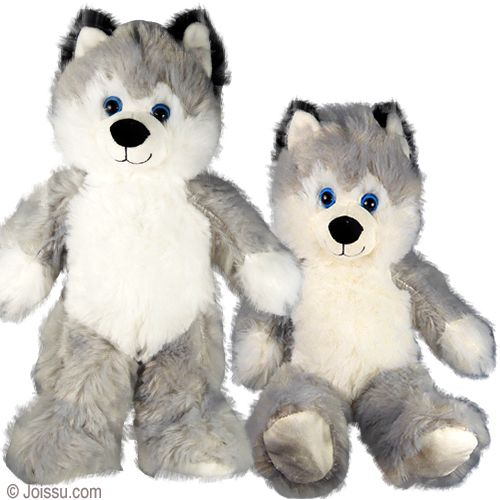 14 Plush Husky Dogs With Beautiful Blue Button Eyes And Super
