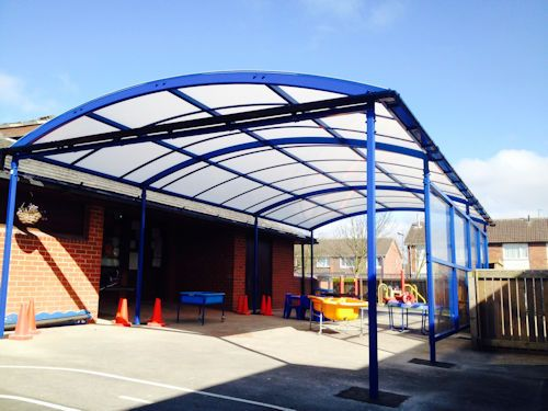 Our fitting team installed a 10m x 5m Welford Dome Junior Free Standing Canopy in Signal Blue at New Pasture Lane Primary School. //.ableu2026 & Our fitting team installed a 10m x 5m Welford Dome Junior Free ...