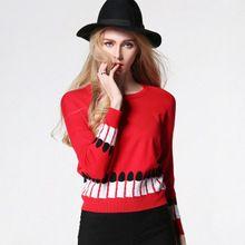 Свободные дикий шею свитер куртка мода помада с длинными рукавами хлопок тканые цветы вязать свитер