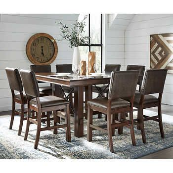 Woodbridge 9 Piece Dining Set Dining Set Dining Table Dimensions Dining 9 pc dining room table sets
