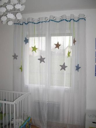 Satin and b b on pinterest - Rideaux chambre enfants ...