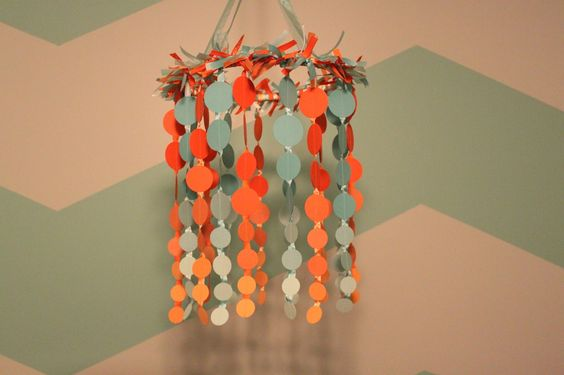 DIY Dots Mobile made with scrapbook paper! #nursery #DIY