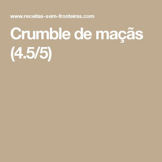 Crumble de maçãs (4.5/5)
