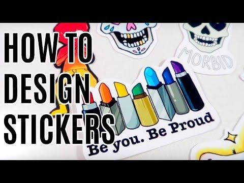 How To Design Stickers And Merch Diy Stickers And Redbubble Tutorial Youtube Diy Stickers Stickers Redbubble