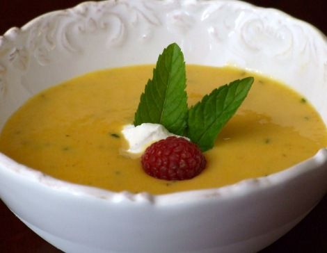 Chilled Summer Peach Soup---so appropriate for a warm Summer Day