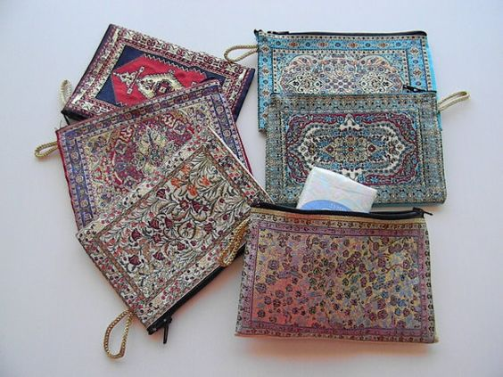 Authentic Coin Purse Turkish Rug Design Coin PurseKnitted and Silky soft