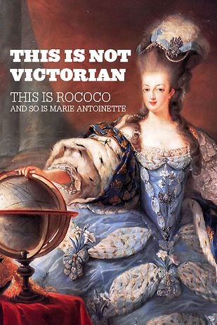 Rococó, conhecido pelos excessos e dos luxos. Isso reflete-se nos trajes da época, usavam-se muitas rendas, tecidos pesados e luxuosos, folhos, uso de pedras preciosas nas joias.