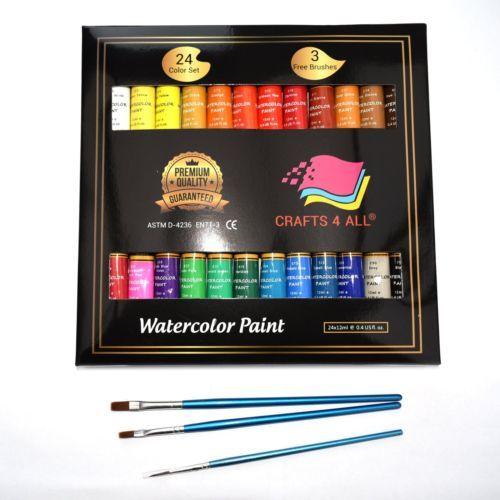 Details About Watercolor Paint Set Multicolor For Kids School Art
