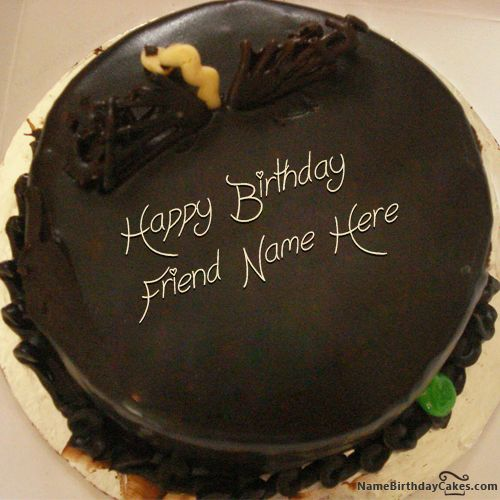 Cake Images Himanshu : Write name on Unique Chocolate Cake For Friends - Happy ...