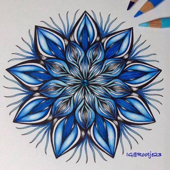 #Blue #Mandala by @rootje23 #Mandalas #MandalaArt #MandalaArtist #MandalaMasters