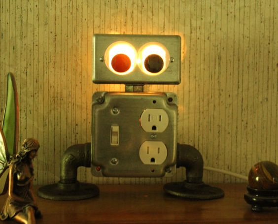 Robby lamp by IndustrialFurnOnline on Etsy