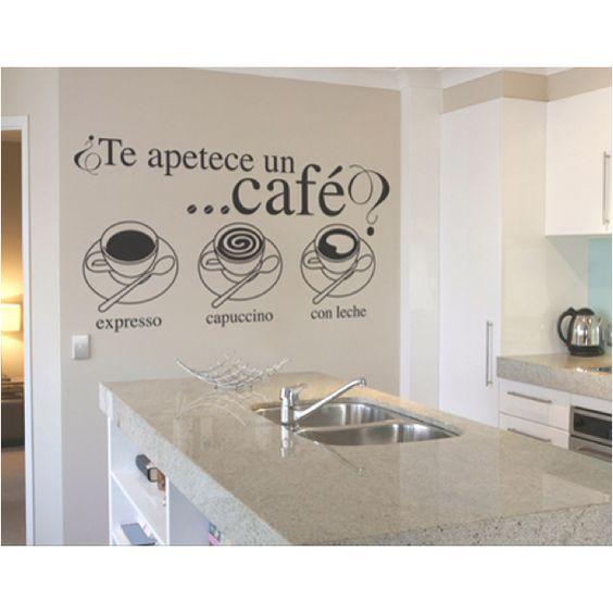 Te apetece un café? Usa esta idea para decorar tu cocina o comedor ...