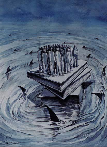 ¿NOS SALVARÁN LOS LIBROS? (ilustración de Alireza Darvish)