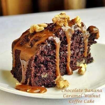 chocolate banana caramel walnut coffee cake...it looks so good ...