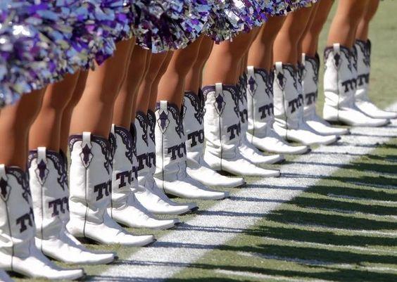 NCAA Novelty Gear: TCU Showgirl Boots #WildWingCafe