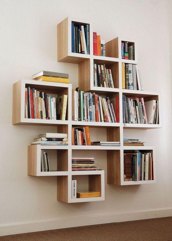 DIY Bookshelf Design Ideas #bookshelf