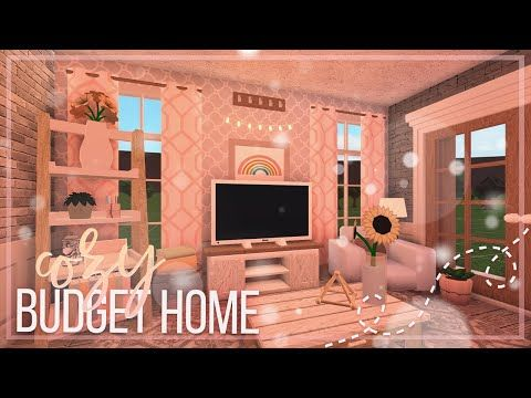 Bloxburg Cozy Budget Home No Gamepass Youtube House Decorating Ideas Apartments Tiny House Layout Home Building Design