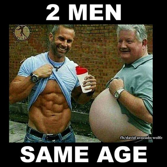 Wow. 2 men same age. Exercise. Vs fat. Motivation. Stay young