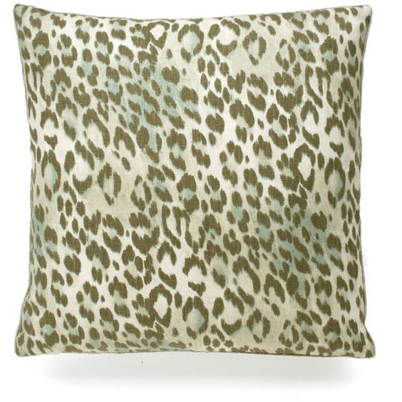 DRANSFIELD & ROSS Bosana Pillow - Watcheye ($190) ❤ liked on Polyvore featuring home, home decor, throw pillows, leopard home decor, cat home decor, fur throw pillows, cat throw pillow and leopard throw pillows