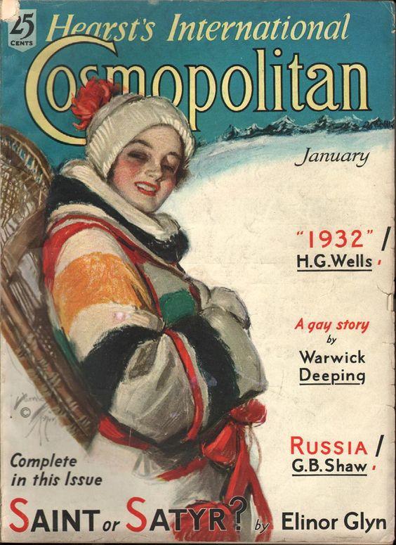 Cosmopolitan magazine, JANUARY 1932  Artist: Harrison Fisher: