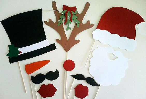 Christmas Photo-booth props