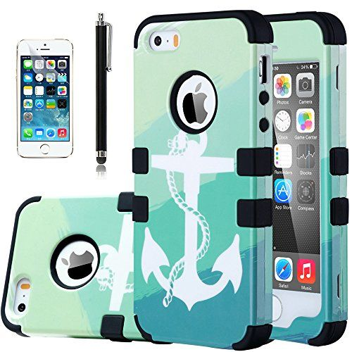 iPhone 5S Case, ULAK Apple iPhone 5S 5 Case Hybrid Protective Case (Hard PC+ Soft Silicone) Cover for iPhone 5/5S ith Shock Absorbing and Scratch Resistant Perfect 3 in 1 Sea Anchor Case (Black) ULAK http://www.amazon.com/dp/B00U6XU1K0/ref=cm_sw_r_pi_dp_LTObvb1PA5ENN