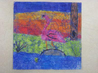 "Miss Young's Art Room: Crayon ""Batik"" Birds"